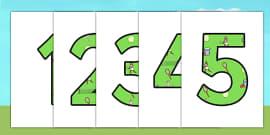 Wimbledon Themed Display Numbers