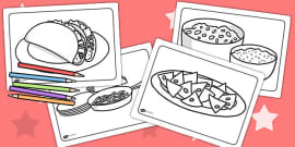 Mexican Food Colouring Pages