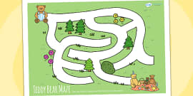 Teddy Bears Picnic Maze Activity Sheet