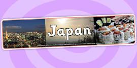 Japan Photo Display Banner