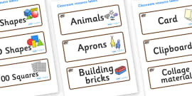 Badger Themed Editable Classroom Resource Labels