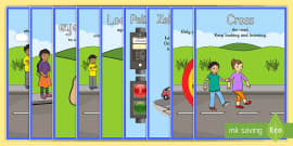 Road Crossing Safety Posters