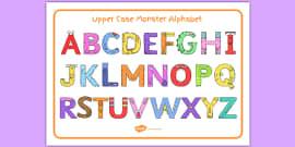 Upper Case Monster Alphabet Image Mat