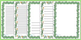St. Patrick's Day A4 Page Borders