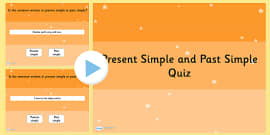 Identifying Whether a Sentence is in the Present Simple or Past Simple Tense SPaG PowerPoint Quiz