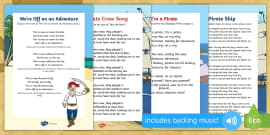 * NEW * Pirate Themed Songs and Rhymes Resource Pack