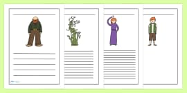 Jack and the Beanstalk Writing Frames