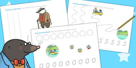 The Wind in the Willows Pencil Control Sheets