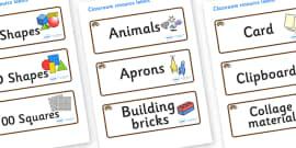 Hedgehog Themed Editable Classroom Resource Labels