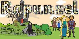 Rapunzel Title Display Lettering