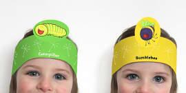 Roleplay Headbands to Support Teaching on The Crunching Munching Caterpillar