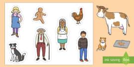 The Gingerbread Man Sensory Story Stick Puppets