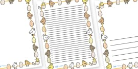 Chick And Eggs Page Borders (A4)