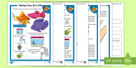 * NEW * KS1 How to Look After a Fish Differentiated Comprehension Go Respond Activity Sheets
