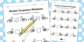 Ugly Duckling Number Comparison Activity Sheets
