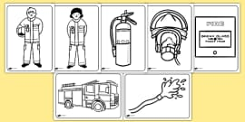 Fire Service Colouring Pages