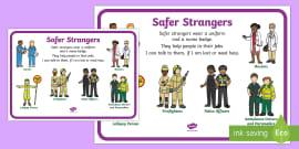 * NEW * Safer Strangers Display Poster