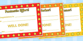 End Of Term Award Certificates