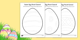 Easter Egg Pencil Control Activity Sheet Pack