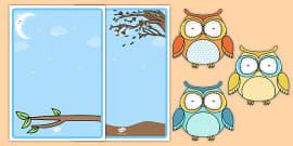 Cute Owl Themed Editable Poster