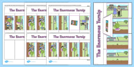 The Enormous Turnip Story Writing Flap Book