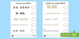 Addition Sheet to Support Teaching on Rumble in the Jungle