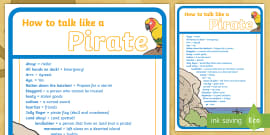 * NEW * How to Talk like a Pirate Guide