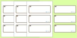 Badger Themed Editable Drawer-Peg-Name Labels (Blank)