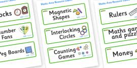 Caterpillar Themed Editable Maths Area Resource Labels