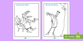 Colouring Sheets to Support Teaching on Winnie The Witch