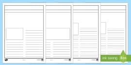 Newspaper Template Writing Frame