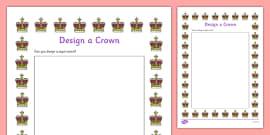 Design a Crown Activity Sheet