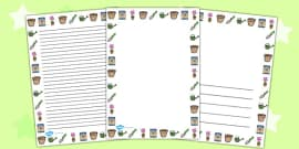 Gardening Page Borders