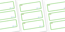 Caterpillar Themed Editable Drawer-Peg-Name Labels (Blank)