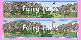 Fairy Tales Display Banner