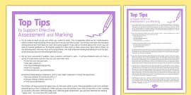 Top Tips to Support Effective Assessment and Marking