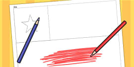 Chile A4 Colouring Flag