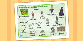 Hansel and Gretel Word Mat (Images)