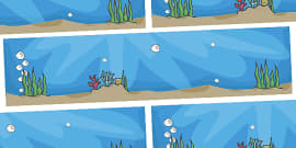 Small World Background to Support Teaching on Commotion In The Ocean