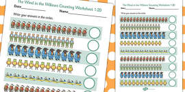 The Wind in the Willows Counting Sheet 1-20