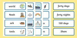 Noah's Ark Word Cards