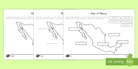 Differentiated Map of Mexico Differentiated Labeling Activity Sheets