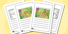 The Lion And The Mouse Story Writing Frames