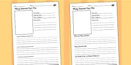 Mary Seacole Significant Individual Differentiated Fact File Worksheets
