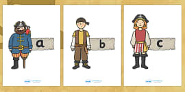 A-Z Alphabet on Pirates