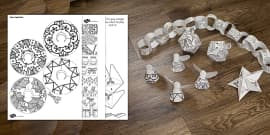Mindfulness Colouring Christmas Decorations