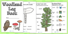 Woodland Log Activity Book