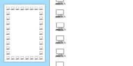 Computer Screen Portrait Page Borders