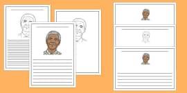 Nelson Mandela Writing Frame