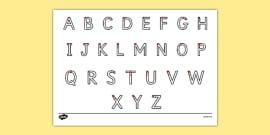 Letter Formation Alphabet Handwriting Practice Sheet (Uppercase)